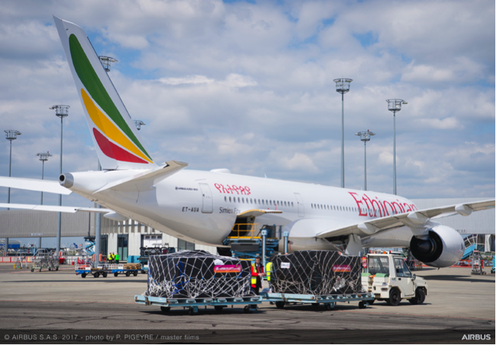 Ethiopian Airlines in cooperation with the Airbus Foundation and partners fly relief goods to Ethiopia