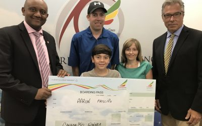 12 year-old boy wins $10,000 trip to Africa