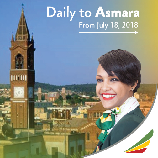 Ethiopian Airlines Commence Flights to Asmara, Eritrea