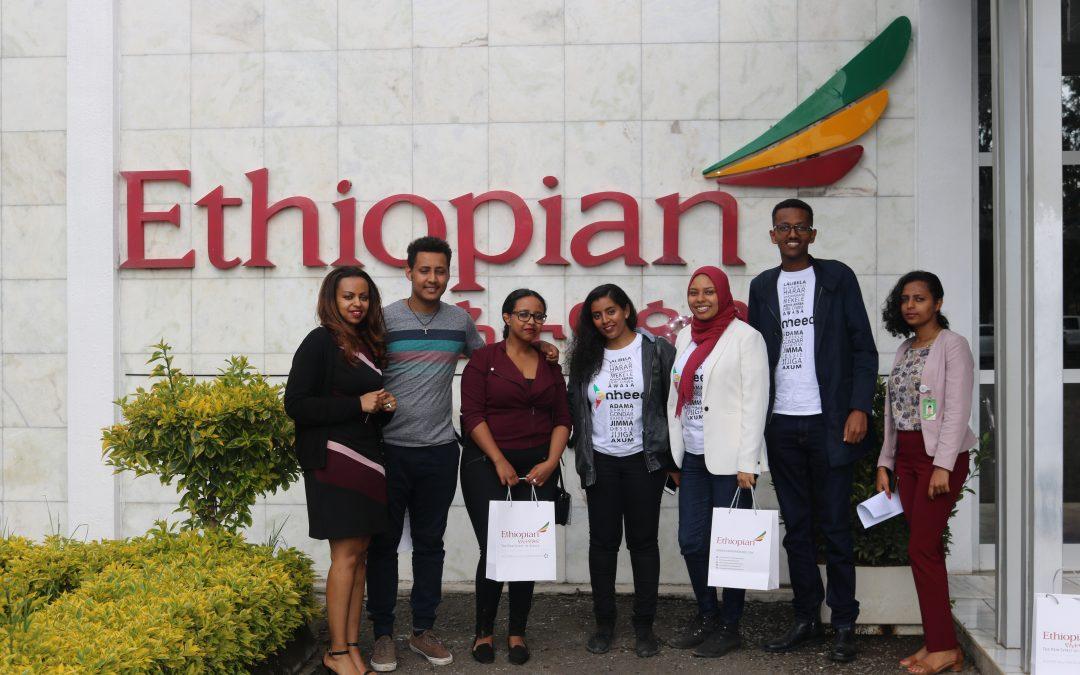 Enheed's young Ethiopian diaspora visit Ethiopian Airlines Headquarters