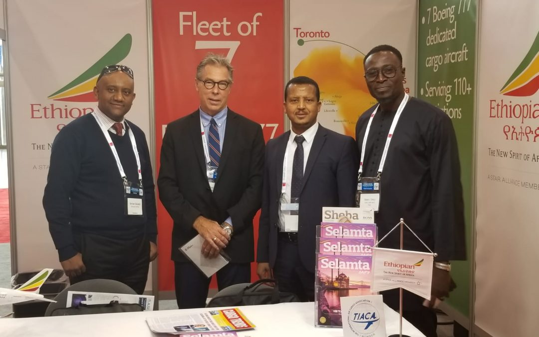 Ethiopian Airlines attends the International Air Cargo Association in Toronto