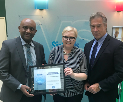 Donation of flights helped support SickKids' Global Child Health programs