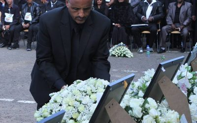 Ethiopian Airlines employees and Artists held a memorial service
