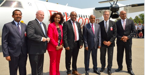 De Havilland Canada and Ethiopian Airlines Celebrate the Milestone Delivery of the Dash 8-400 Aircraft Bearing Serial Number 4600