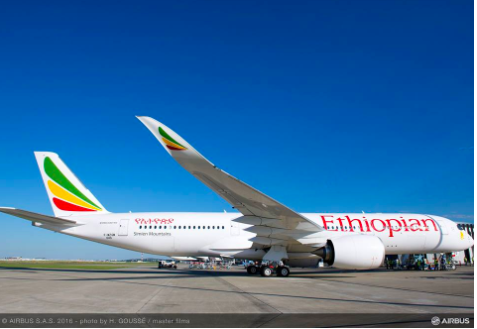 Ethiopian Airlines first historic Airbus A350 arrival at Toronto Pearson